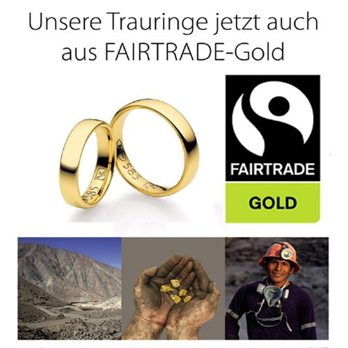 Fairtrade Trauringe aus Gold